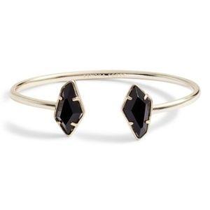 KENDRA SCOTT Gold Black Lilith Pinch Cuff Bracelet